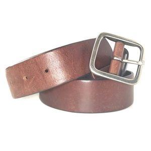 GAP Genuine Leather Brown Belt Brass Buckle 30''